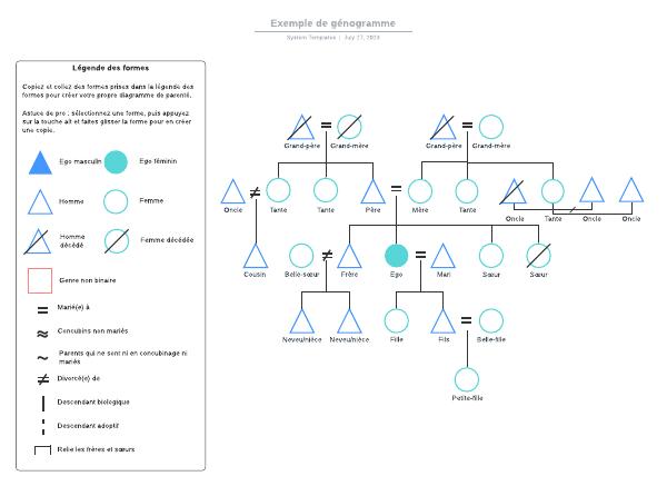 Exemple de génogramme